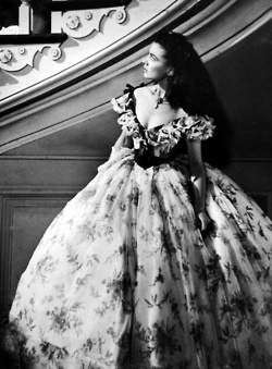 Scarlett O'Hara  You have to love the way women dressed back then and with no air conditioning!! But what a beautiful dress