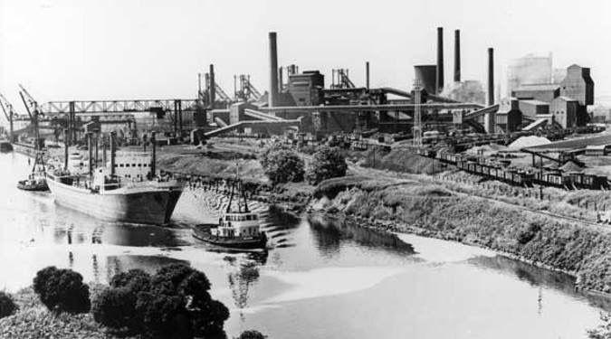 Irlam Steel Works.