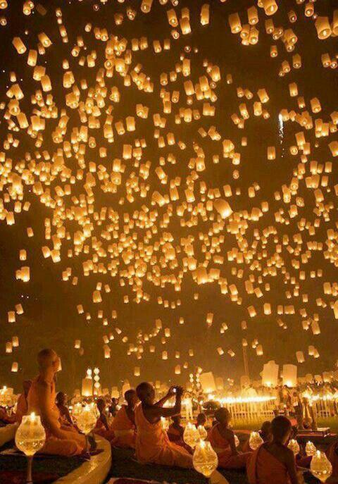 Floating Lantern festival in Thailand