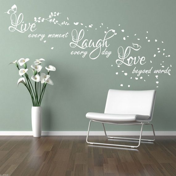 Best Love Wall Decals Images On Pinterest Wall Stickers - Wall decals live laugh love
