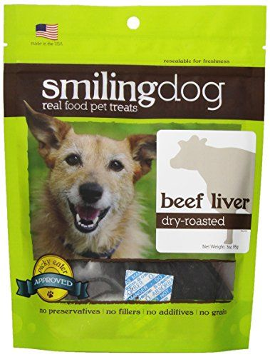 Herbsmith Smiling Dog Dry Roasted Beef Liver Treats for Dogs and Cats, 3-Ounce ** For more information, visit image link.