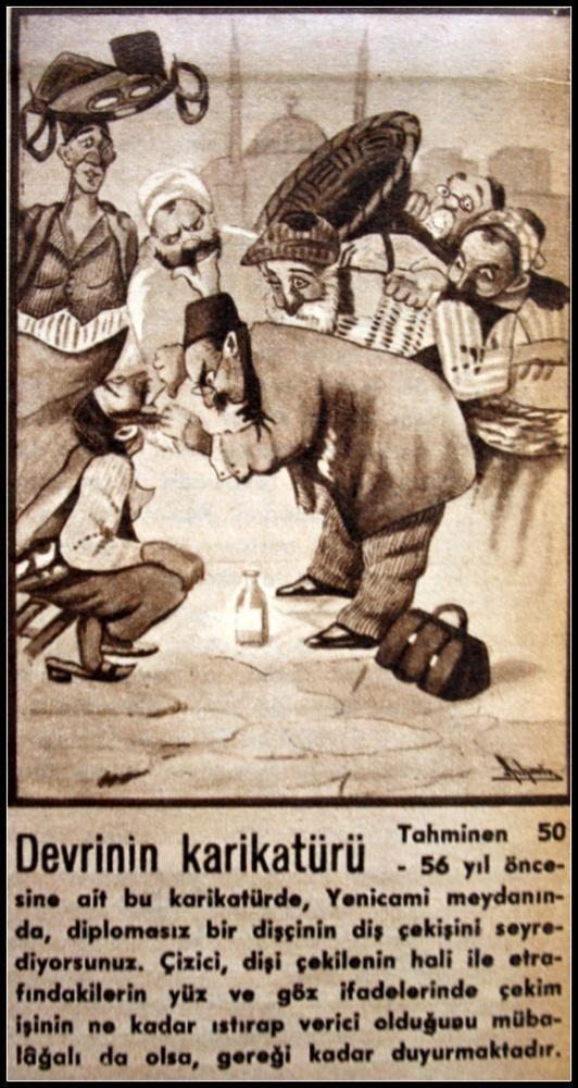 İstanbul'da Dişçiler - Dentists in Istanbul (1910, #istanbul) #karikatür #caricature #old #eski #istanlook
