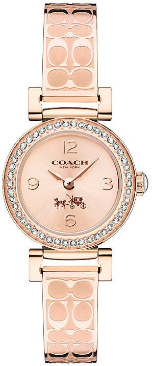 Coach Ladies' Rose Gold tone Bangle Watch