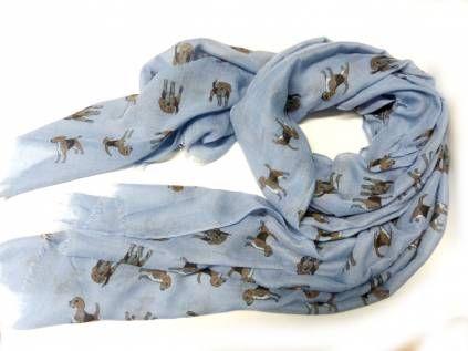 Schals für TierfreundeBaumwoll Fransen-Schal: Beagle -DEMIN-
