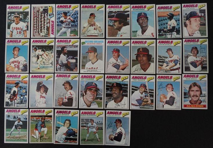 1977 topps california angels team set of 29 baseball cards