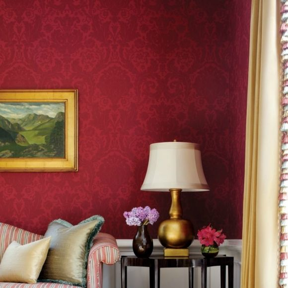 Commandez un échantillon - damas tradition, parfait pour salon, salles a manger classiques, lavable