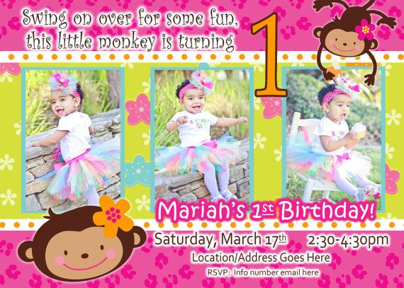 Monkey love party invitations - photo#18