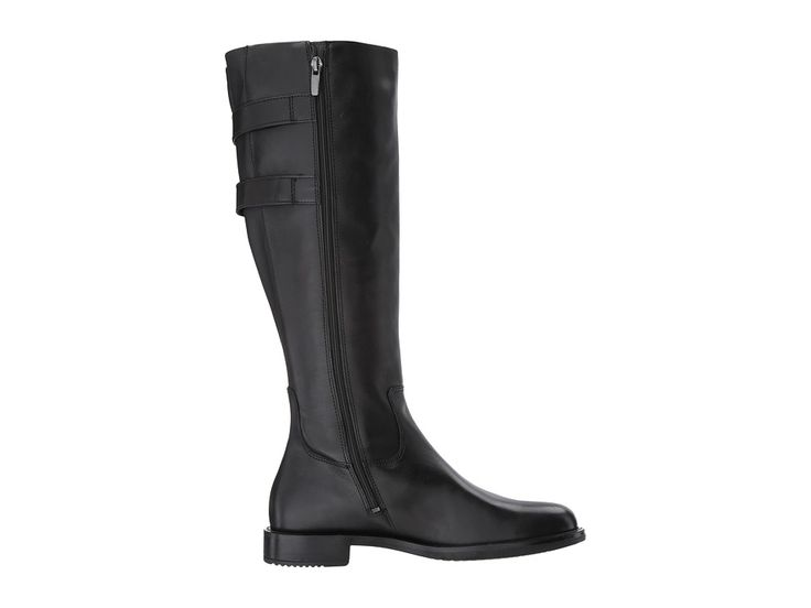 ECCO Shape 25 Tall Buckle Women's Boots Black Cow Leather