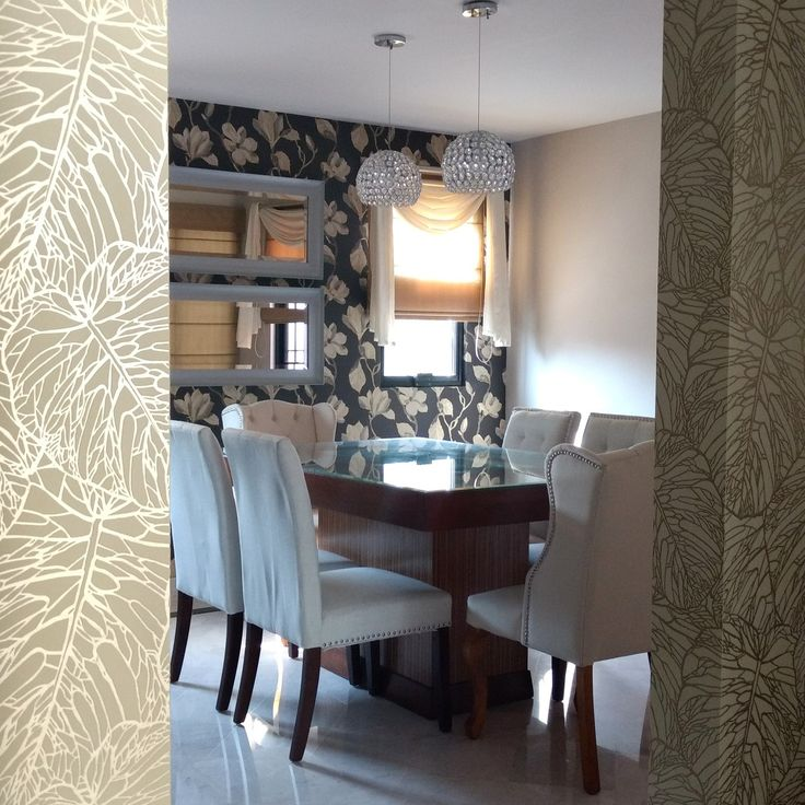 Papel tapiz, decoración de comedores