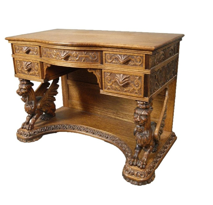 Fine Antique R.J. Horner Oak carved ladies desk Gorgeous! - 20 Best Horner Oak Antiques Images On Pinterest Desks, Dining