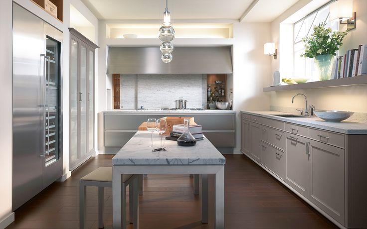 "Spogue Kitchens & Bath | Kitchen Interior Design | ""SieMatic Series"" SE 2002 RF Truffle Grey"