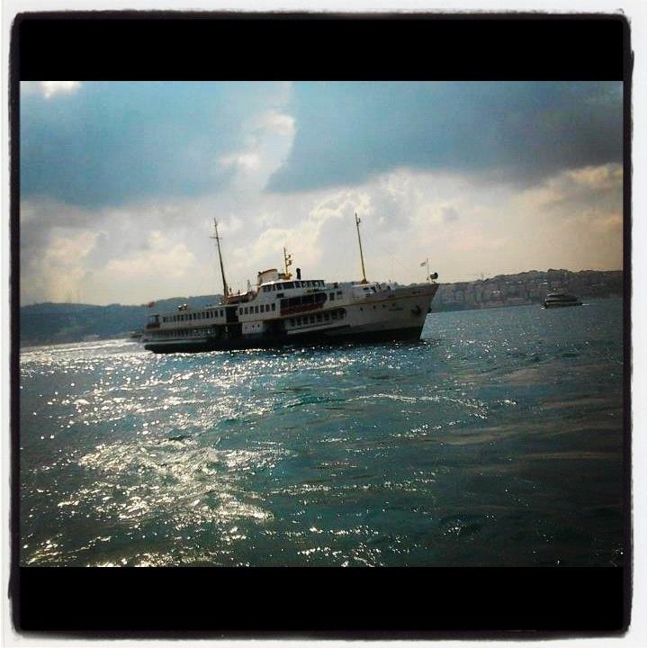 Ferry on Bosphorus, Istanbul Turkey