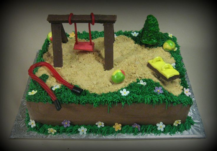 Edible Playground - Swingset is KitKat, Swing ropes are licorice, swing set seat…