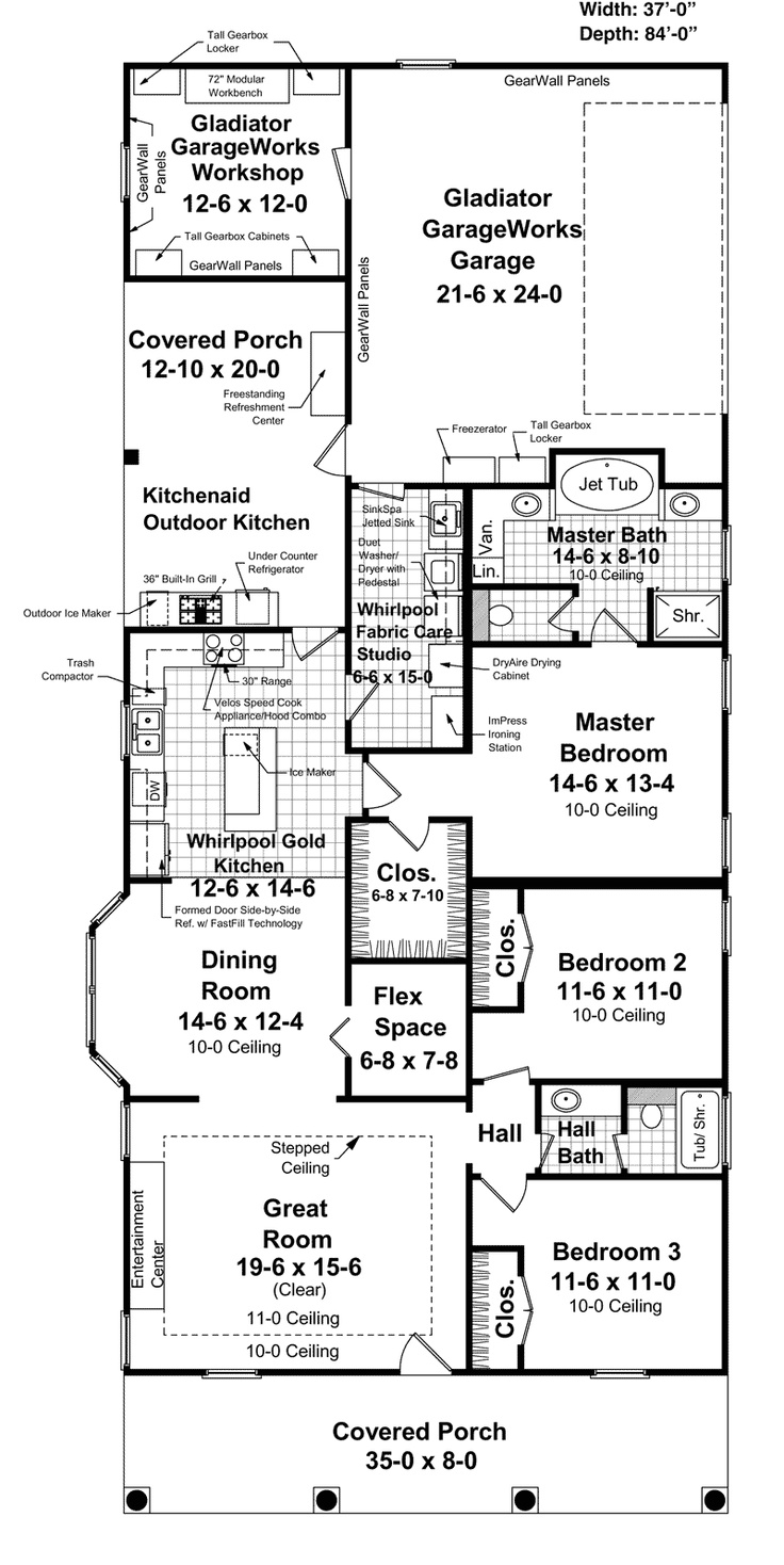 Colonial floor plan first floor 077d 0119 house plans and more
