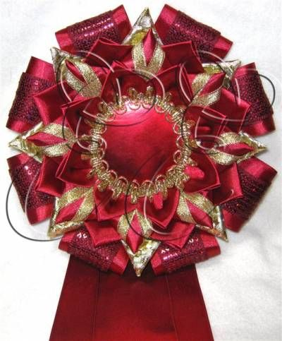 Another beautiful Kanzashi project -- Quilt Show ribbon inspiration 3