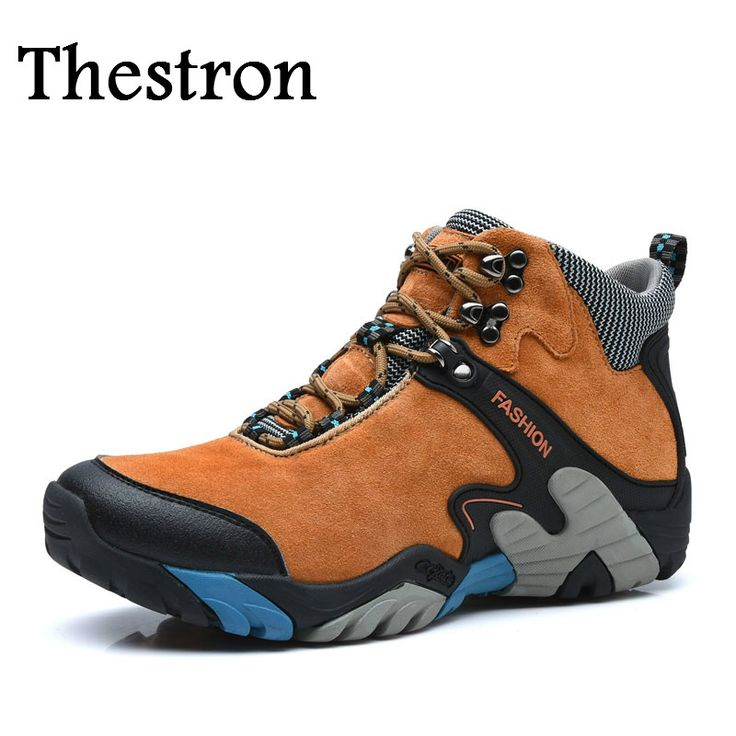 Thestron Hiking Boots Men Anti-Slippery Men Outdoor Boots Snow Mens Sports Shoes Sneaker Winter Mens Walking Boots Outdoor