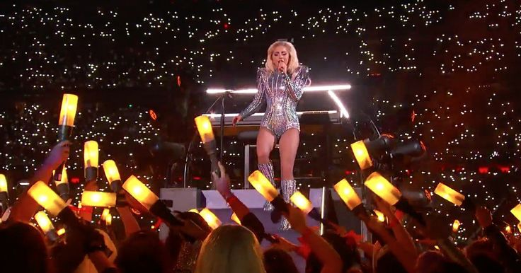 Lady Gaga's first outfit during her Super Bowl half-time performance. Source: Twitter.