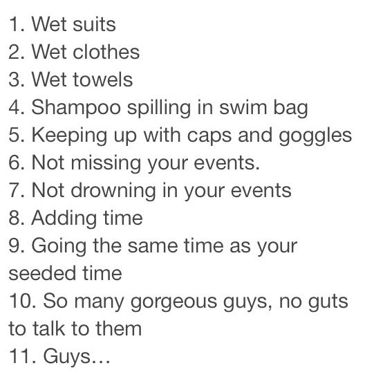 List of swimmer problems
