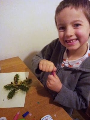 You can have lots of fun with nature and glitter... but expect lots of mess! Winter Family Fun #shop
