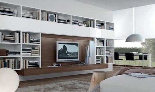 Contemporary TV wall unit - OPEN - ArchiExpo