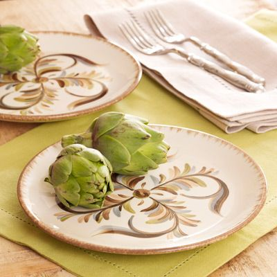 Gail Pittman Alfresco Accent Plates Perfect Pairing For The Villa Stoneware Order Yours At Home Decor