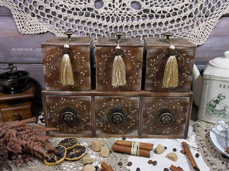 """Купить """"Домашний"""" набор для кухни и не только. - коричневый, набор для творчества, набор для кухни, кухонный интерьер"""