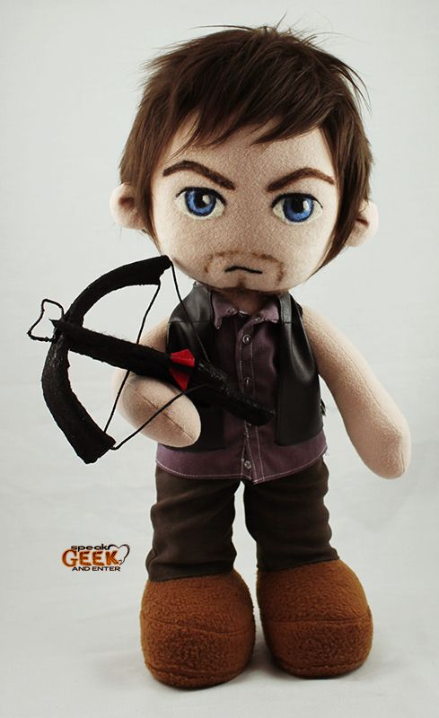 Daryl Dixon / Walking Dead plush (take two!) - TOYS, DOLLS AND PLAYTHINGS  ***WANT!!! WANT!!! WANT this little Daryl doll :o)