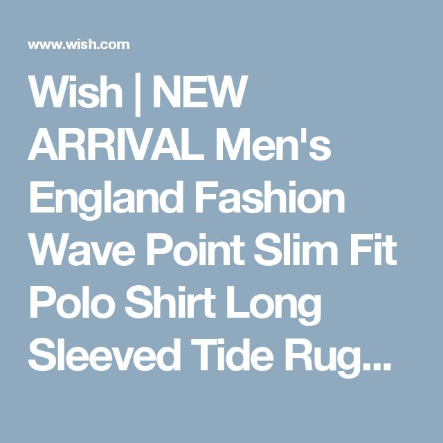 Wish | NEW ARRIVAL Men's England Fashion Wave Point Slim Fit Polo Shirt Long Sleeved Tide Rugby Blouse ( Size: M~XXXL )
