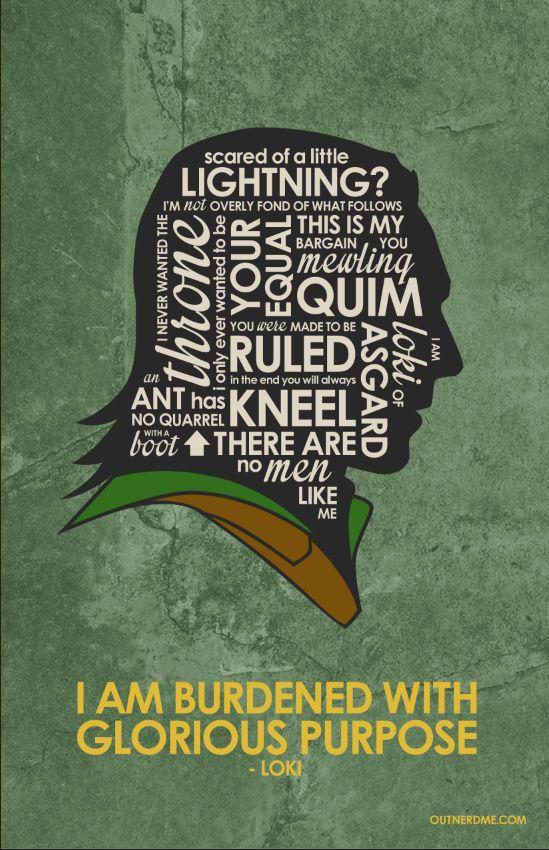 Loki Inspired Quote Poster #avengers #loki #TomHiddleston #thor #quotes