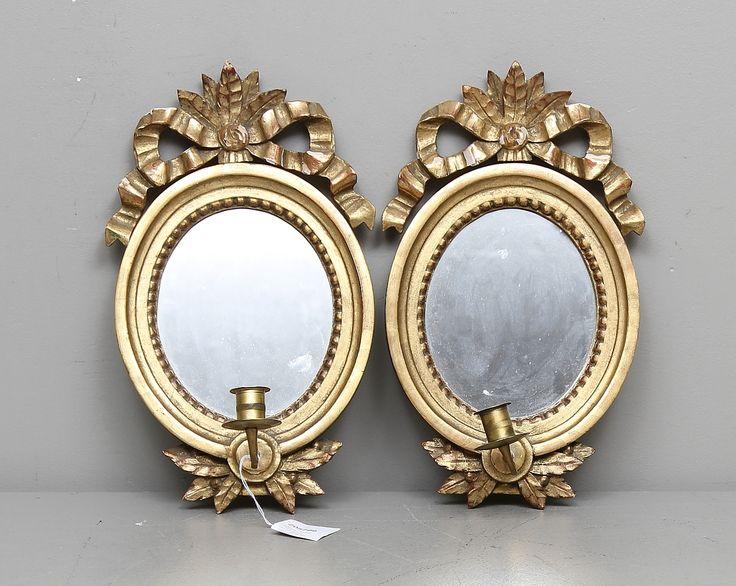 Candle mirror sconces Gustaviansk stil, 1900s