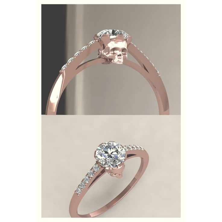 I love rose gold! Would take it as an everyday ring! - Skull engagement ring.