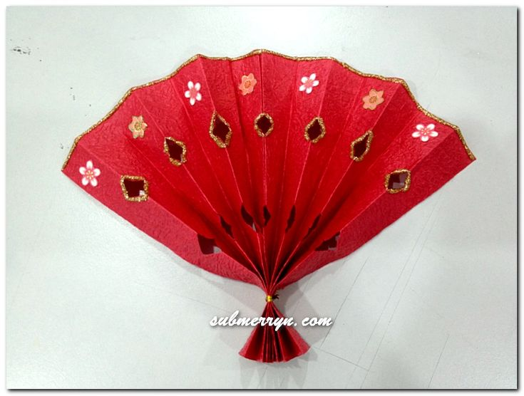 DIY Chinese New Year decorations : Chinese Fan