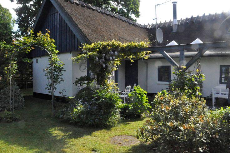"""Hus i Hornbæk, Danmark. Romantisk landsbymiljø i Borsholm, 3 km uden for Hornbæk. 1  skønt dobbeltværelse i stueetagen. 1 dobbeltværelse på 1 sal ad en """"finurlig"""" trappe i hyggeligt soveværelse. Dejlig stor have, med flere hyggekroge. Fælles badeværelse/toilet.  Skøn bel..."""