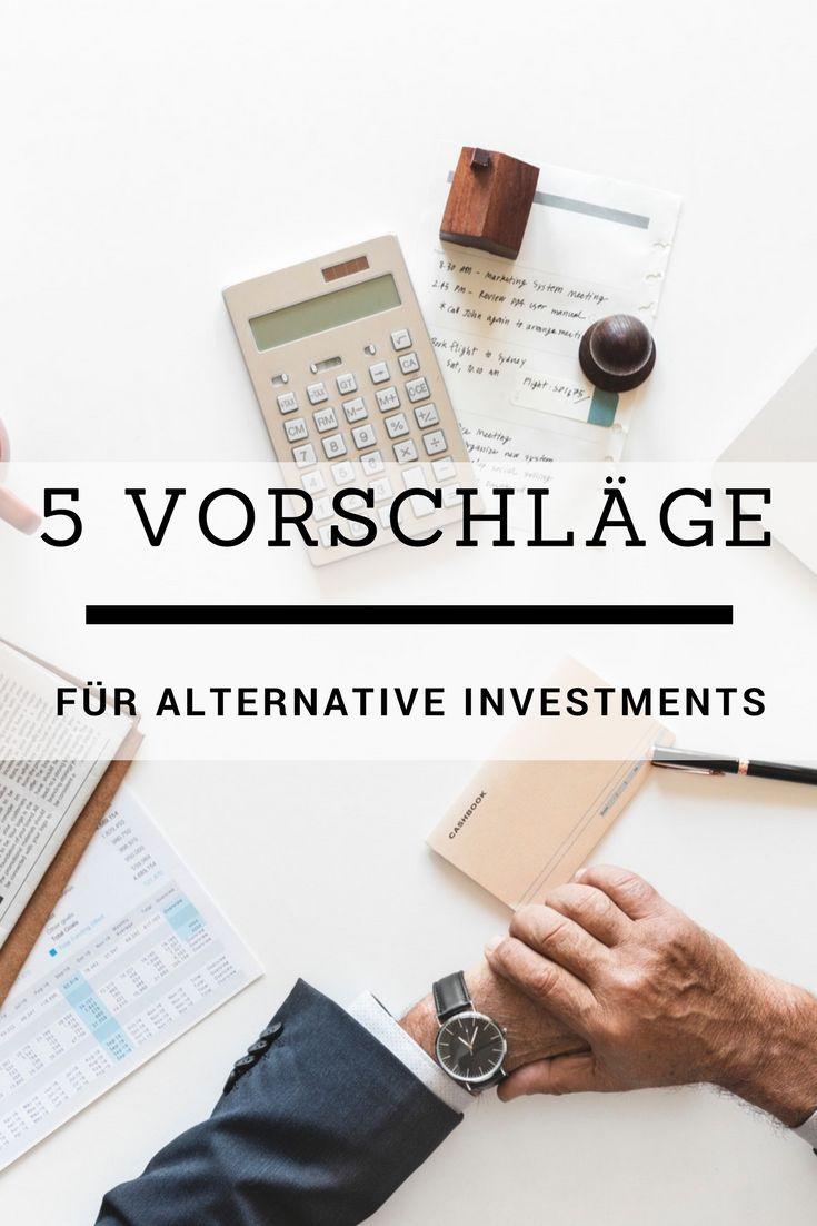 Welche alternative Investments Möglichkeiten gibt es. Muss es immer das Depot oder Festgeldkonto sein? Nein! Alternative Investments werden immer beliebter. Anbei findest du 5 Vorschläge für alternative Investments.