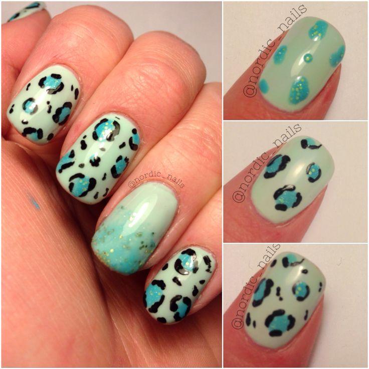 How to make cheetah nails