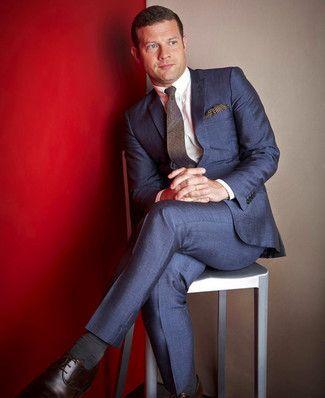 Cómo combinar un traje azul marino en 2017 (374 formas) | Moda para Hombres