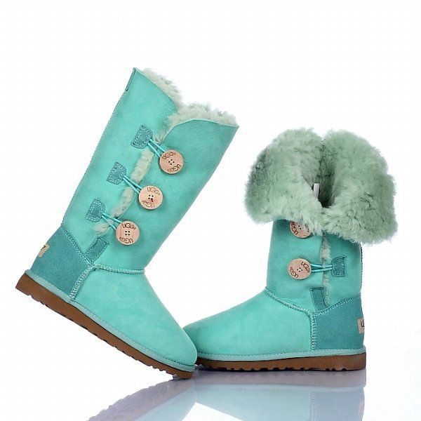 UGG Bailey Button Triplet Boots 1873 Green $120.99