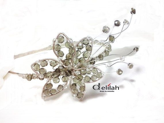 Wrapped Flower Hair Accessory Bridal Hairband by BridalShopDelilah