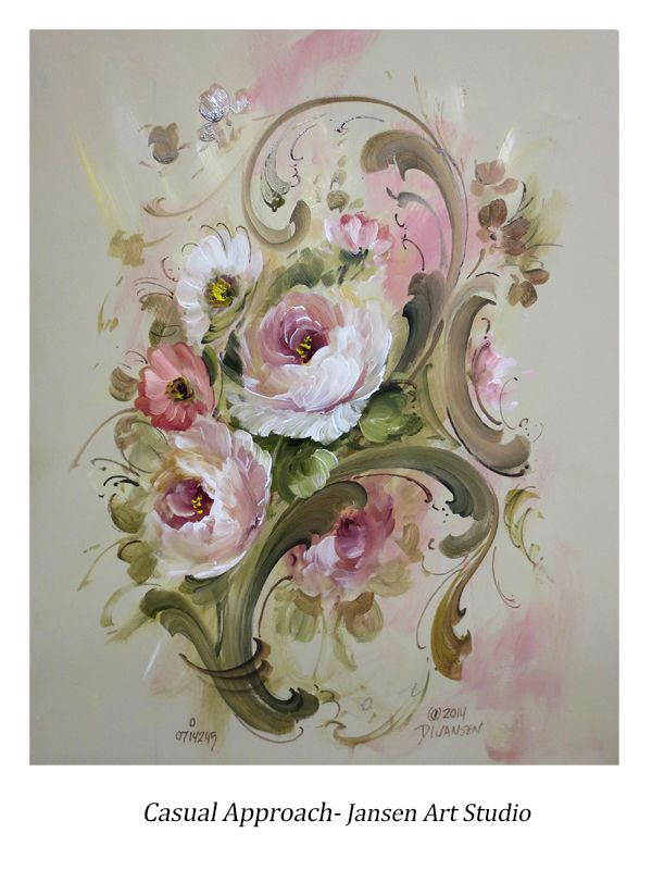 Contemporary painting from our Rosemaling Inspirations Vol.1