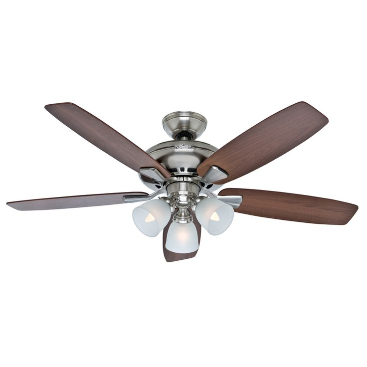 Best 25 ceiling fan price ideas on pinterest painted fan blades shop hunter winslow 52 in brushed nickel downrod or flush mount ceiling fan with light aloadofball Image collections