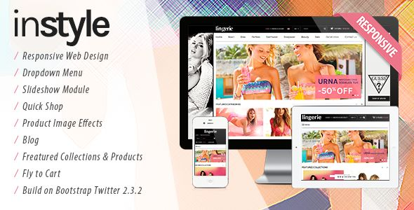Instyle - Lingerie Store Responsive Fashion Shopify Theme & Template - Download Here : http://themeforest.net/item/lingerie-store-responsive-shopify-theme-instyle/6114615?ref=yinkira