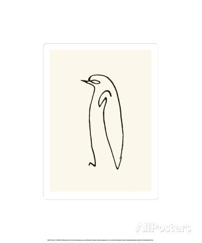 Le Pingouin, c.1907 Serigraph by Pablo Picasso at AllPosters.com 9.5x13.5 without border