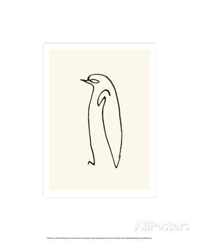 Le pingouin, vers 1907 Sérigraphie