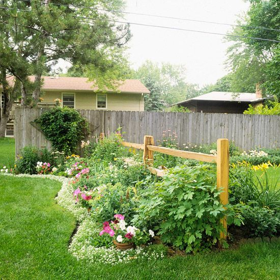 17 best images about landscaping ideas on pinterest for Garden bed fence ideas