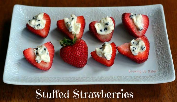 Summer desserts.. Stuffed Strawberries! #strawberries #dessert #recipe