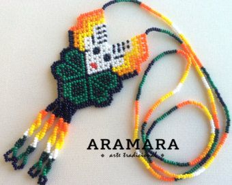 Mexican Huichol Beaded Star Necklace