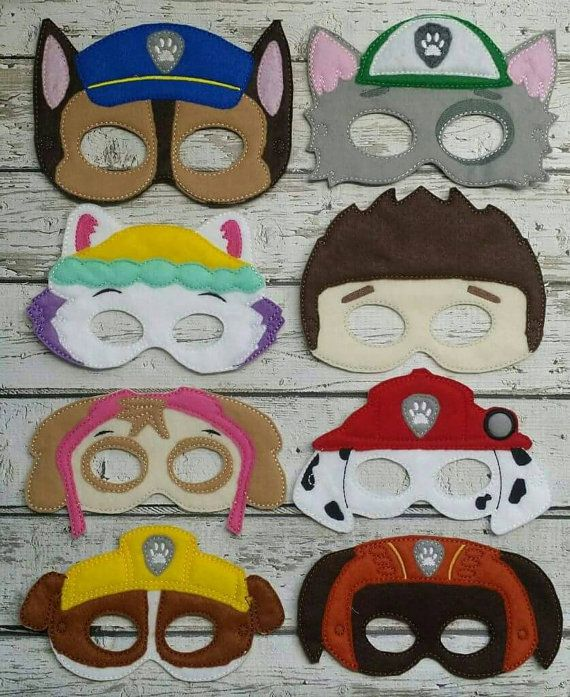 Paw Patrol Masks by LittleFingersbyEM on Etsy