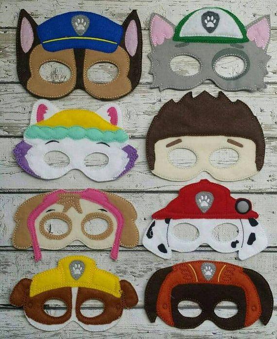 Máscaras de patrulla de pata por LittleFingersbyEM en Etsy