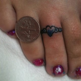 Little toe ring tattoo I did today!!