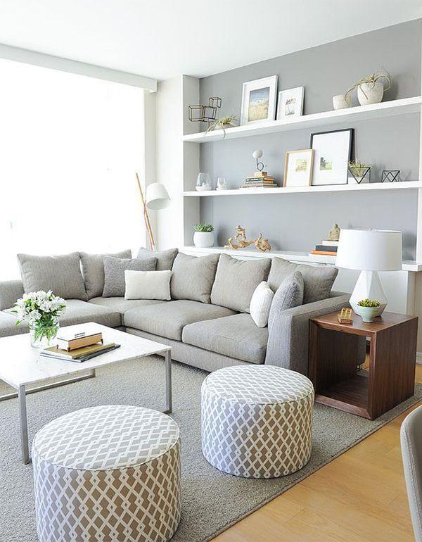 modernes Wohnzimmer mit sanften Farben – #Farben #…